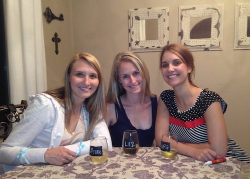 dinner with Anne Marie & Sara almost two years ago!