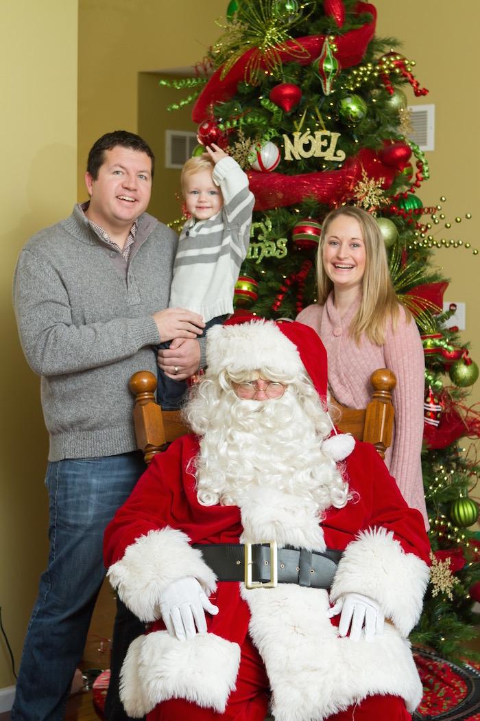 Visiting Santa 2015   Ellie And Addie