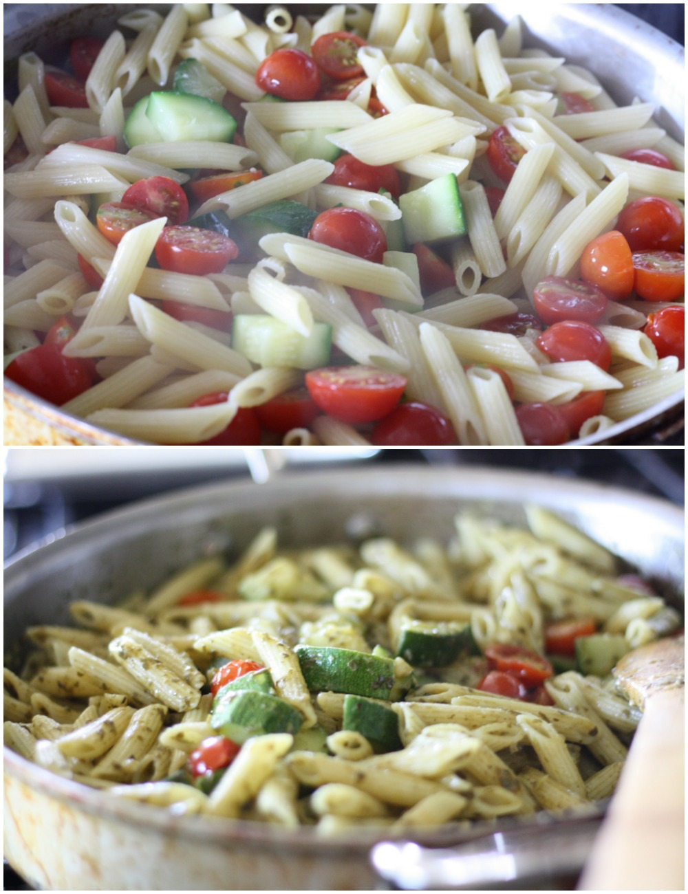 One Pan Garden Fresh Pasta Recipe | Ellie And Addie
