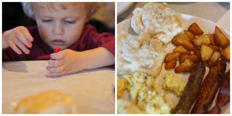 Breakfast with Santa at Eckert's   Ellie And Addie