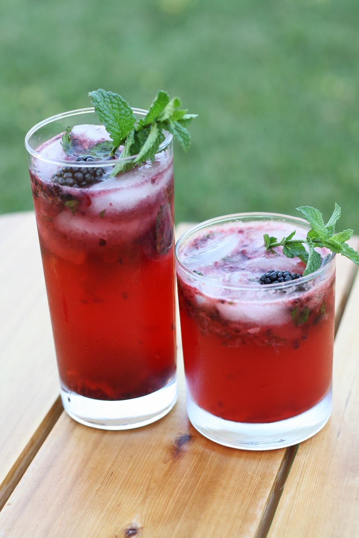 Blackberry Cocktails Two Ways | Ellie And Addie