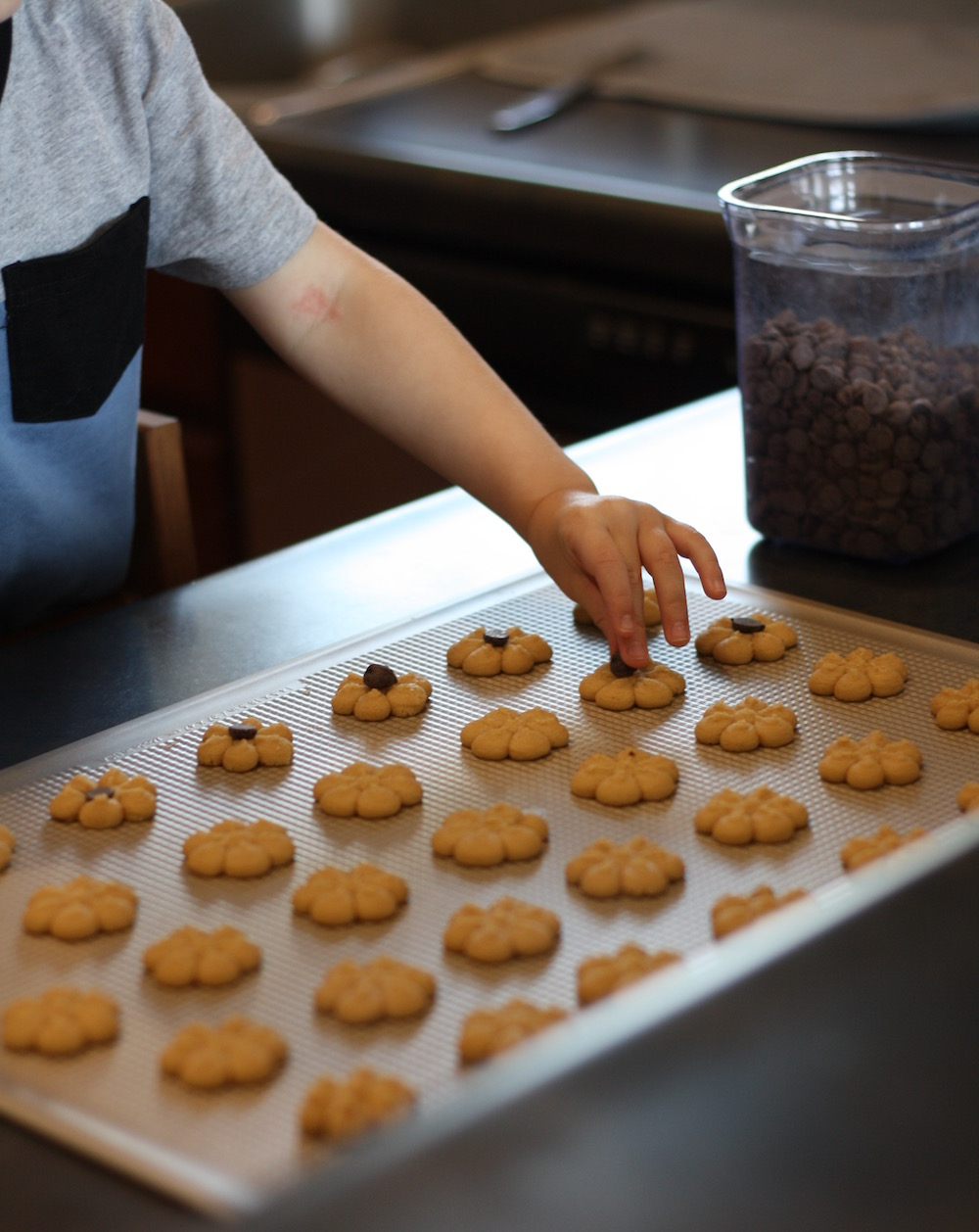 Peanut Butter Spritz Cookie Recipe | Ellie And Addie