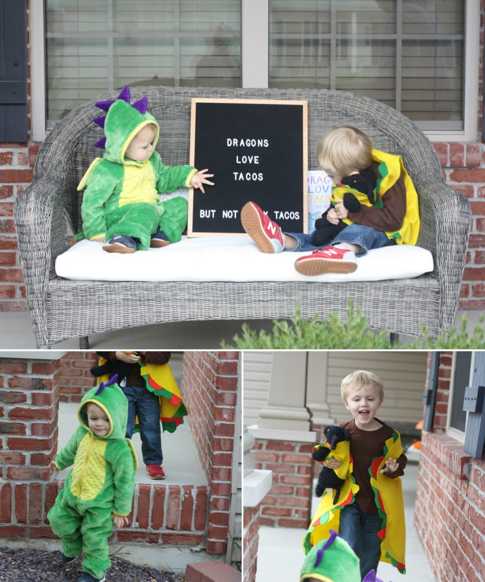 Dragons Love Tacos - Halloween 2017   Ellie And Addie
