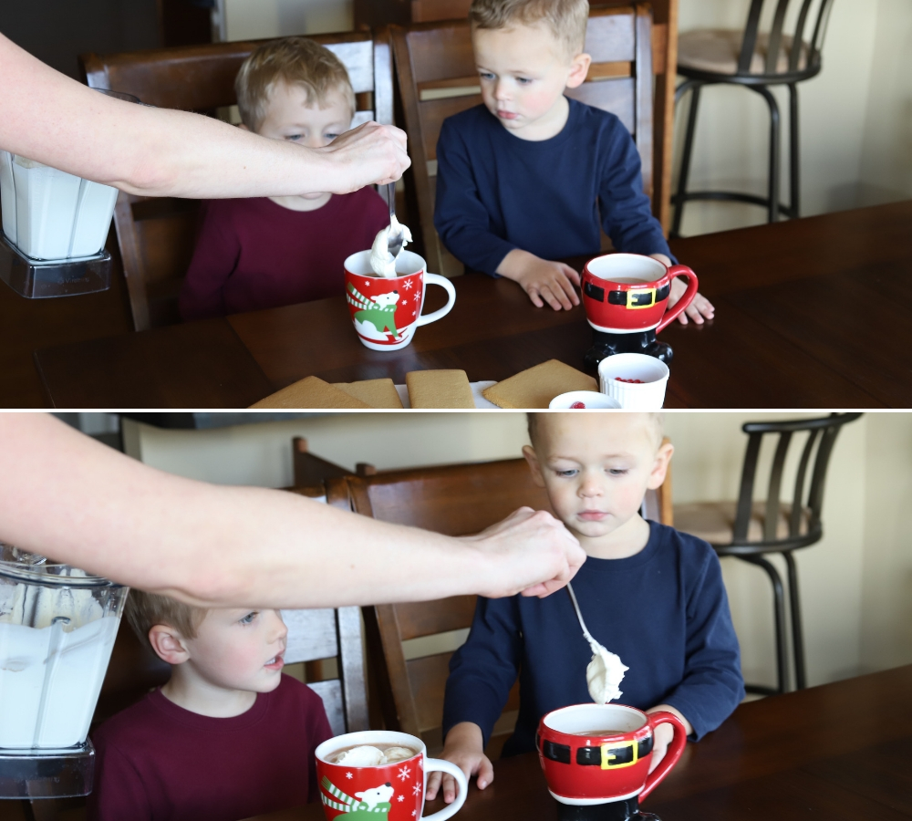 Homemade Hot Cocoa and Whipped Cream with Vitamix | St. Louis Family and Lifestyle Blogger Liz of Ellie And Addie